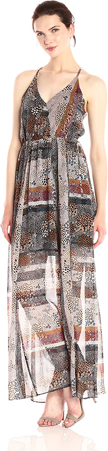 BCBGeneration Womens Shirried Maxi Dress Dress