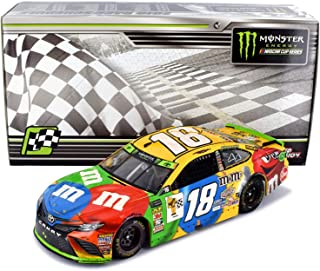 Action Low Serial Number 0006 Kyle Busch 18 Richmond Sweep Win 2018 MMS Raced Version Metal Diecast Body Plastic Chassis Car 1 24 Scale Diecast Car Racing Collectables 505 Made