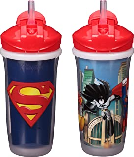 Playtex Sipsters Stage 3 Super Friends Straw Sippy Cups for Boys - 9 Ounce - 2 Count, Blue