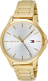 Tommy Hilfiger 1782086 Womens Quartz Watch, Analog Display and Stainless Steel Strap, Silver