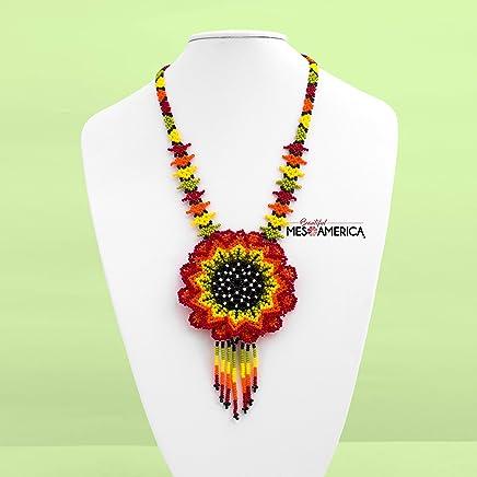 Handmade Mexican Beaded Choker Necklace Irene