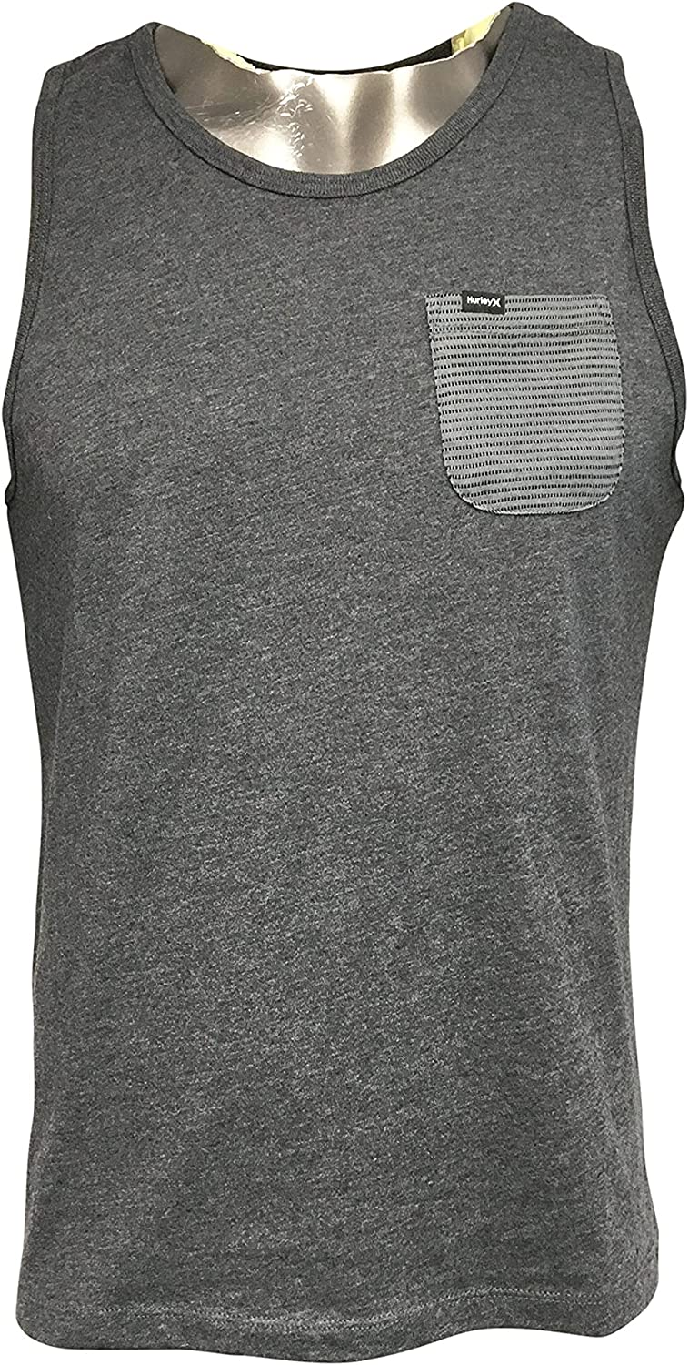 Hurley Men's Tank Top Cotton/Polyester Blend Stitch Tank Top Black (Small) at  Men's Clothing store