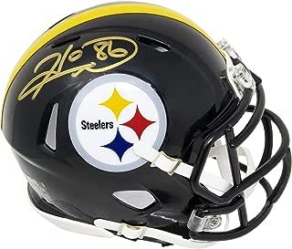 Hines Ward Signed Pittsburgh Steelers Riddell Speed Mini Helmet