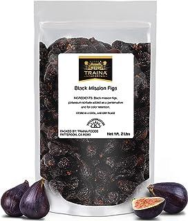 Sponsored Ad - Traina Home Grown California Dried Whole Black Mission Figs - No Added Sugar, Non GMO, Gluten Free, Kosher ...