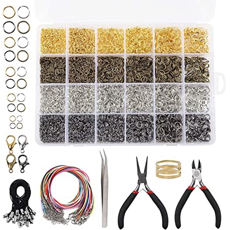 LeonBach 200 Pcs Stainless Steel Rope Clip Wire Ends Clip Bracelet Necklace Jewelry Making Accessories 7x3.5x2.5mm
