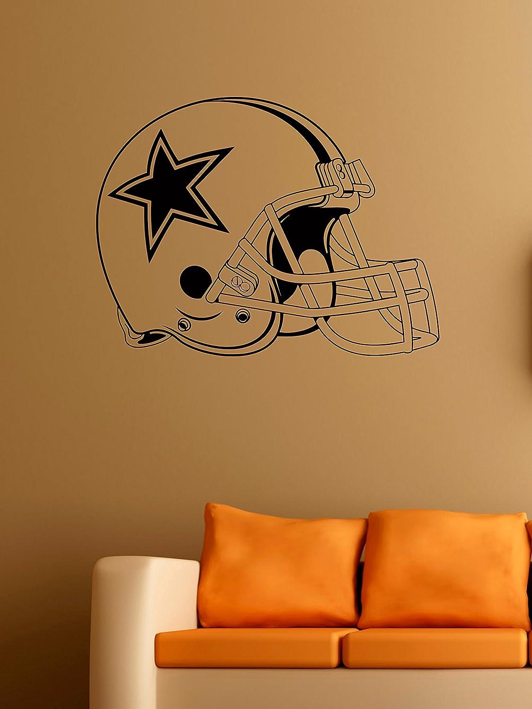 Dallas Cowboys Logo Wall Vinyl Decals American Football Helmet Logotype Game Team Vinyl Decals Vinyl Murals Stickers IL1156