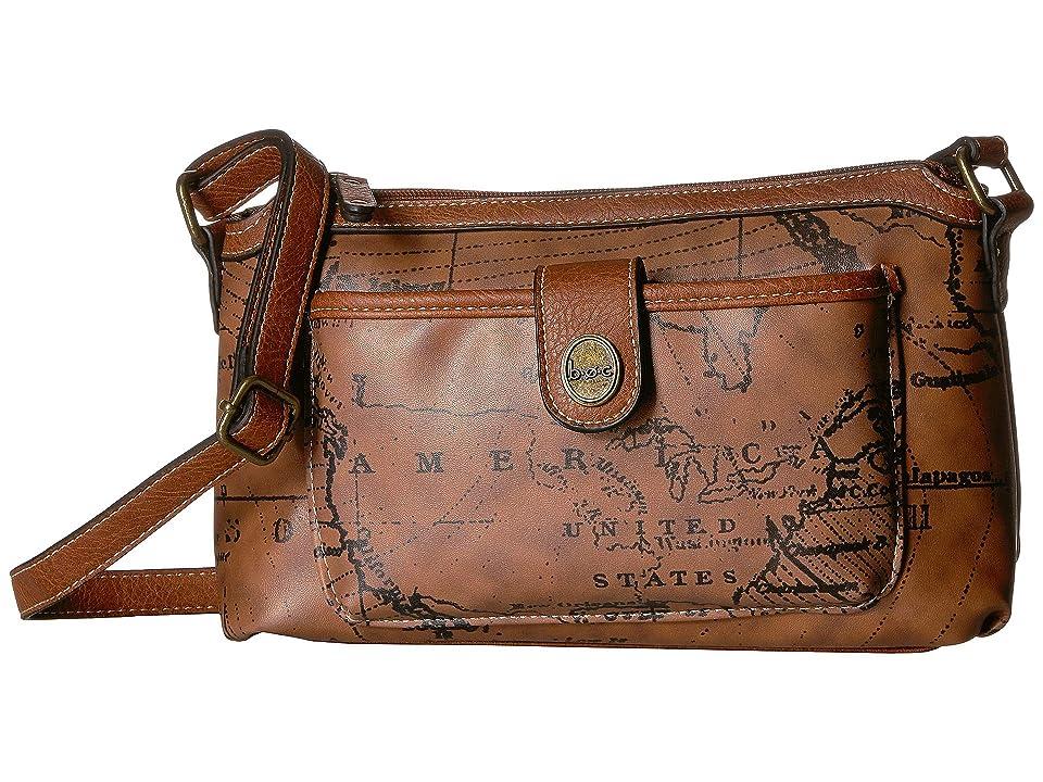 b.o.c. Voyage Crossbody (Dark Saddle/Chocolate) Satchel Handbags, Brown