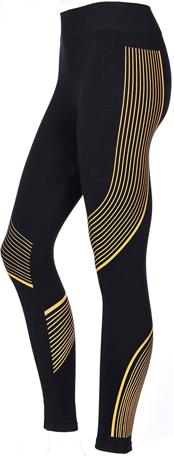 Sports Fitness Leggings with Racer Stripes Workout Leggings for Women 4 Colors