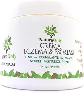 Crema para eccema y psoriasis Natura Only, para pieles secas e irritadas, alivio de picazón, dermatitis, rosácea y culebrilla (fuego de San Antonio).