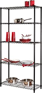 Honey-Can-Do SHF-01442 Storage Shelving, 5-Tier, Black