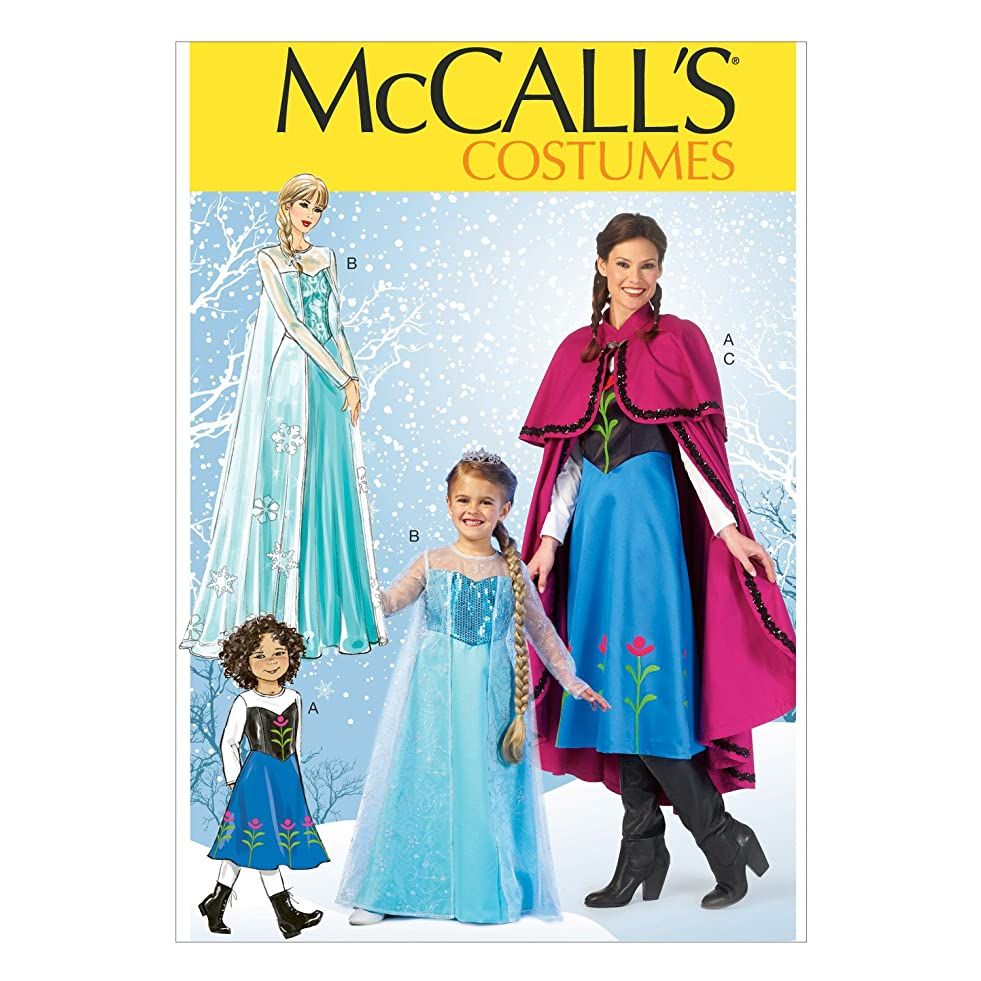 McCall's Costumes Ice Queen and Ice Princess Costume Sewing Pattern, Adult and child Sizes S-M-L-XL c920666420