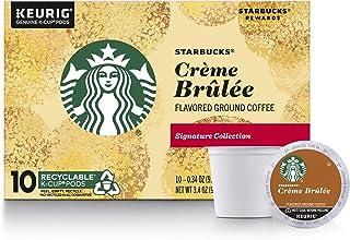Starbucks Crème Brulée Flavored Blonde Roast Single Cup Coffee, 10 Count