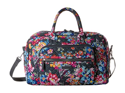 Vera Bradley Iconic Compact Weekender Travel Bag (Pretty Posies) Weekender/Overnight Luggage