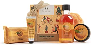 The Body Shop Zingy & Zesty Satsuma, 5pc Small Gift Set With Fruity Care Treats, 11.15 Fl Oz