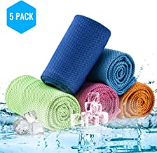 CyvenSmart Cooling Ice Towel for Neck 5 Pack,Cool Rags Cold Chilly Towel for Yoga,Sport,Gym,Workout,Camping,Fitness,Running,Workout&More Activities