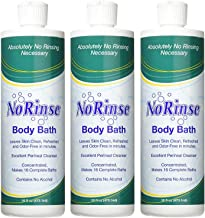 No-Rinse Body Bath, 16 fl oz - Leaves Skin Clean, Refreshed and Odor-Free (Pack of 3) - Makes 16 Complete Baths