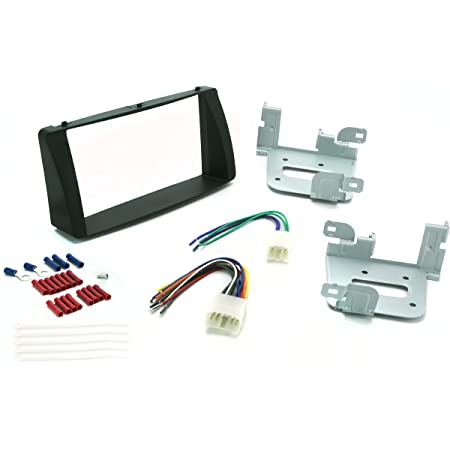 DKMUS Dash Kit for 2003-2008 Toyota Corolla Double Din Installation Trim Fascia Bezel w 2-Din Wiring Harness