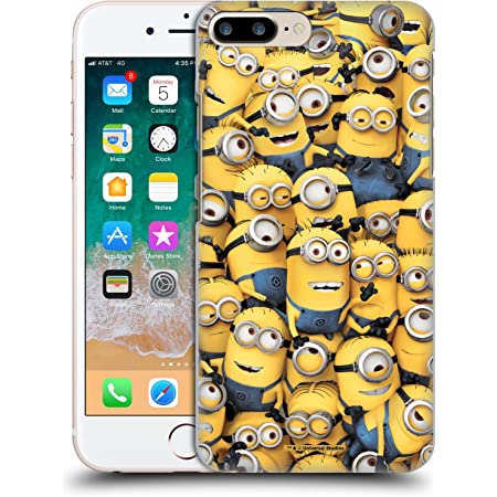 Head Case Designs Officially Licensed Despicable Me Pattern Funny Minions Hard Back Case Compatible with Apple iPhone 7 Plus/iPhone 8 Plus