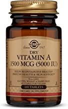 Dry Vitamin A 1500 mcg (5000 IU) Tablets - 100 Count