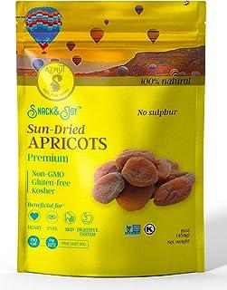 AZNUT Turkish Dried Apricots, Unsulphured, No Sugar Added, 100% Natural Premium Quality, NON-GMO Project Certified, Kosher, Gluten-Free,Resealable Bag (Dark (unsulphured), 1 LB)