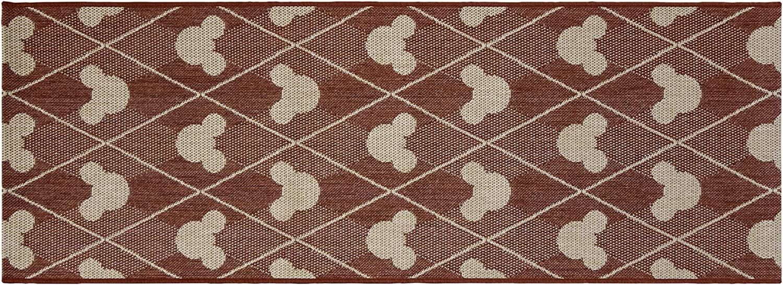 Diamond Tile Apple Red Gertmenian 31310 Disney Outdoor Rug Patio Mickey Mouse Outside Carpet 2x6 Runner