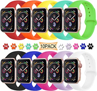 TIMTU Sport Band Compatible with Apple Watch Band 40mm 38mm 42mm 44mm, Soft Silicone Strap Replacement for Apple Watch Series 5 4 3 2 1 for Women/Men