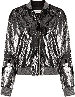 GOLDEN GOOSE Luxury Fashion Womens G36WP069A1 Silver Jacket |