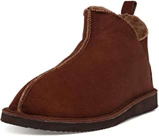 Ciora Men's Alpin Ankle Boot Sheepskin Slippers
