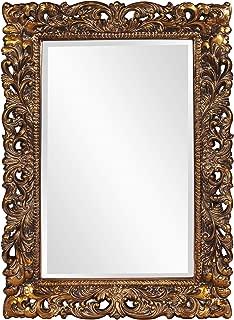 Howard Elliott Barcelona Hanging Rectangular Wall Mirror, Antique Gold Resin, 23 x 35 Inch