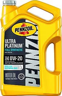 Pennzoil Ultra Platinum Full Synthetic 0W-20 Motor Oil (5-Quart, Case of 3)