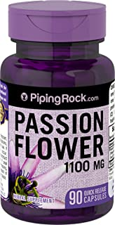 Piping Rock Passion Flower 1100 mg 90 Quick Release Capsules Herbal Supplement