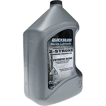 Quicksilver 858027Q01 Premium Plus 2-Cycle TC-W3 Oil for 2-Cycle Mercury, Mariner, Force, Mercury Jet Drive Outboards and Mercury Sport Jet Engines, 1-Gallon