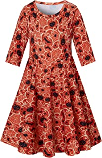 Leapparel Girls Dresses Floral Printed Sleeveless Sundress Casual Round Neck Frock for 4-13 Years