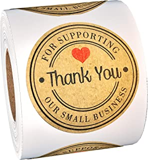 500-Piece Thank You Stickers -Thank You For Supporting Our Small Business Set - Large 1.5