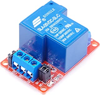 KNACRO SLA-05VDC-SL-C DC 5V 1 Channel Relay Module 30A with optocoupler Isolation Support High Level Low Level (DC 5V)
