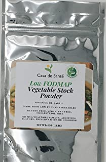Low FODMAP Vegetable Stock Powder, Artisan Vegetable Bouillon, Broth, Stock, Seasoning with No Garlic or Onion for Paleo Diet, Natural Soups, Sauces, Gravy, Gluten Free, MSG Free - Casa de Sante (4oz)