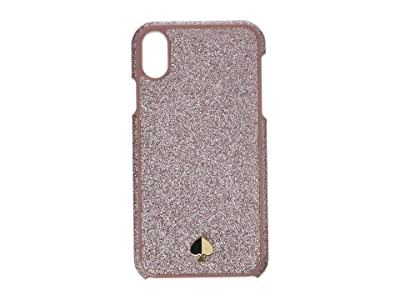 Kate Spade New York Glitter Inlay Phone Case for iPhone XR (Rose Gold) Cell Phone Case