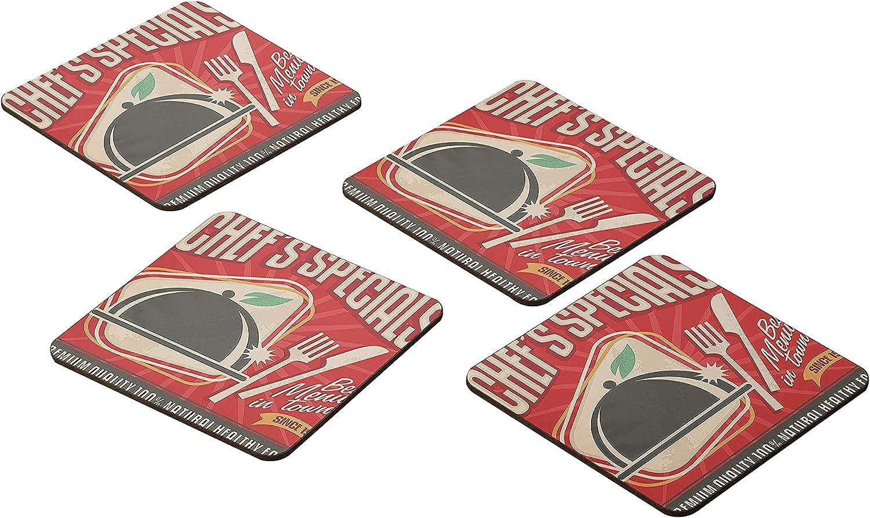 Bonamaison Coasters - Set of 4 E -Premium Wholesale 9x9CM Soldering MDF Absorbent