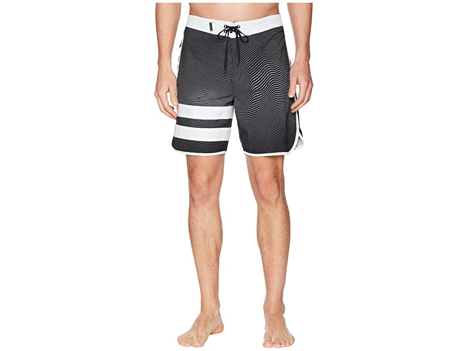 Hurley Phantom Static Block Party 18 Boardshorts (Black) Men