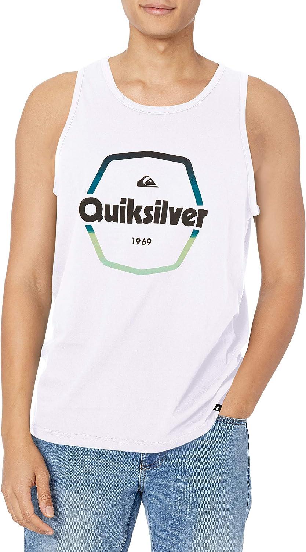 Quiksilver Men's Logo Tank Top Muscle Tee Shirt: Clothing