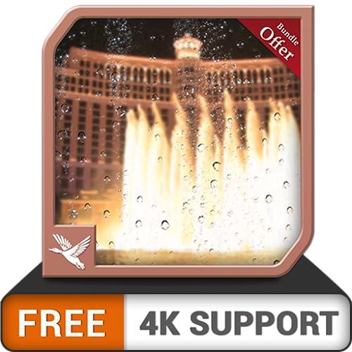 kostenlose regnerische Brunnen HD - dekorieren Sie Ihren Fernsehbildschirm mit einer wunderschönen Landschaft auf Ihrem HDR 8K 4K-Fernseher und Feuergeräten als Hintergrundbild und Thema für Vermittlu