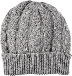 Pure Cashmere Cable Knit Cap Made in Scotland