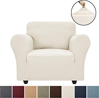 Obytex High Stretch Chair Cover Fashional Upgrade Pattern Chair Slipcover Dog Cat Pet Furniture Protectors Slipcovers (Chair, Cream)