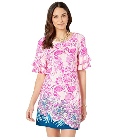 Lilly Pulitzer Lula Dress (Coral Reef Tint Flamingle Engineered Dress Front) Women