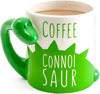BigMouth Inc Coffee Connoisaur Mug, Dinosaur Mug, Holds 20oz, Ceramic Coffee Cup with Handle, Funny Novelty Cup