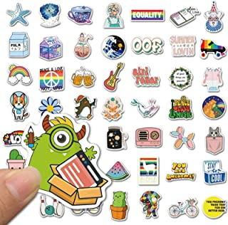 100 PCS Stickers Pack, Colorful Reusable Waterproof Stickers for Laptop, Phone, Water Bottle, Cute Vinyl Stickers for Kid...