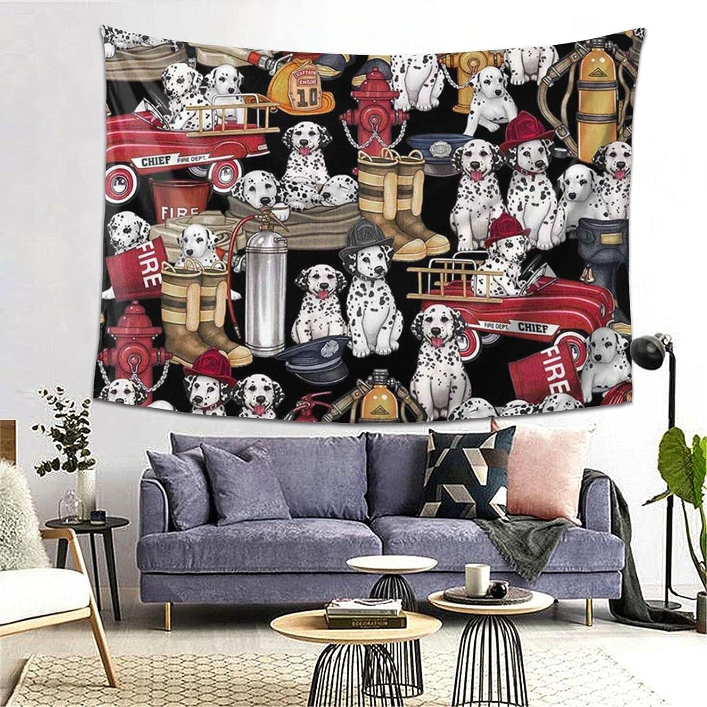 KAETZRU Tapestry Fashion 60 5 popular X 80 Inch Bla Wall Dogs Funny Hangings White