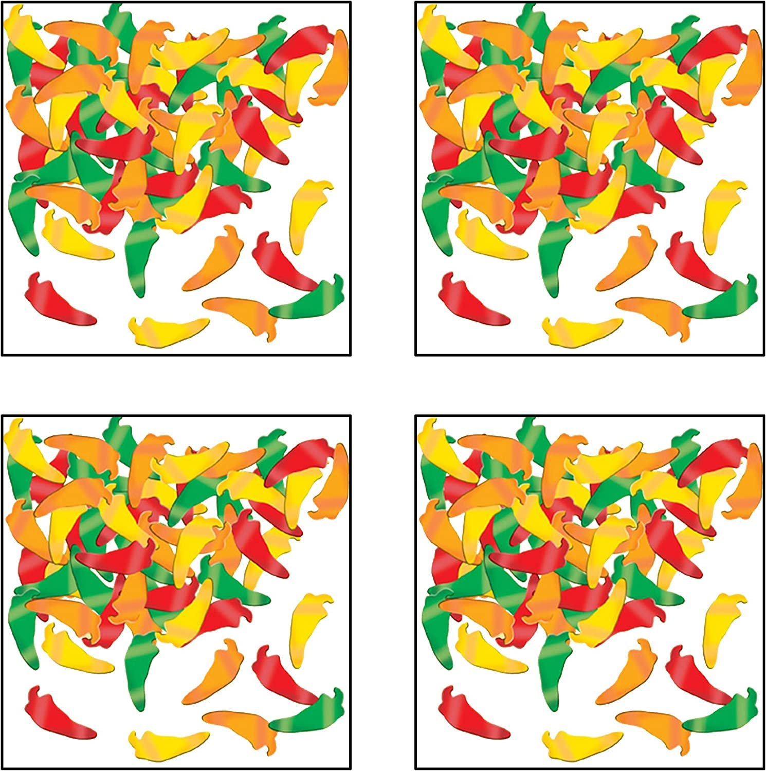 Amazon Com Fanci Fetti Chili Peppers Gd G O R Party Accessory 1 Count 1 Oz Pkg Childrens Party Confetti Toys Games