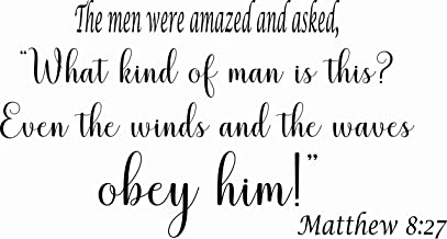 Matthew 8:27 The Men were Amazed and Asked,