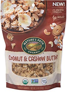 Nature's Path Coconut & Cashew Butter Granola, Healthy, Organic & Gluten Free, 11 Ounce box (Pack of 8)